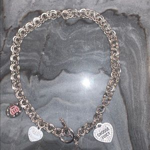 Juicy Couture Charm Chain Link Necklace
